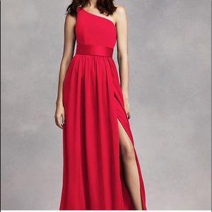 Vera wang NWT Valentina red one shoulder dress
